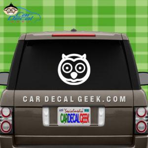 Cute Owl Car Window Sticker Decal