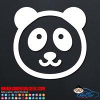 Cute Panda Bear Decal