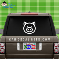 Cute Pig Car Window Decal Sticker