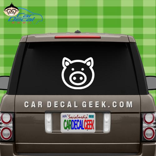 Cute Pig Car Window Decal Sticker