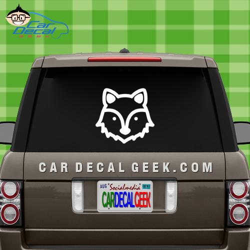 Cute Wolf Car Window Decal Sticker
