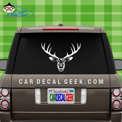 Bad Ass Deer Hunting Car Window Decal