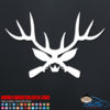 Deer Antler Guns Car Window Decal