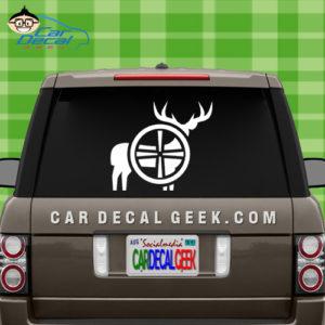 Deer Hunting Gun Scope Car Window Decal
