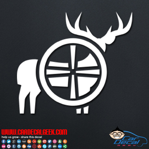 Deer Hunting Gun Scope Decal