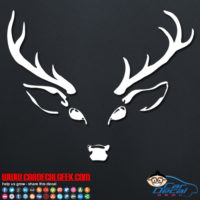 Deer Head Hunting Decal