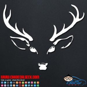 Deer Head Hunting Decal