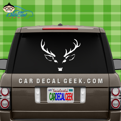 Deer Head Hunting Car Window Decal Sticker