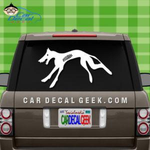 Zombie Dog Car Window Sticker