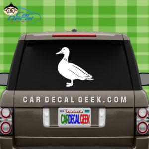 Duck Car Window Vinyl Decal