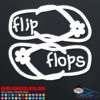 Hawaiian Flip Flops Car Decal
