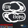 Hawaiian Flip Flops Car Decal