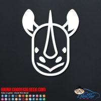 Cute Rhino Face Decal Sticker