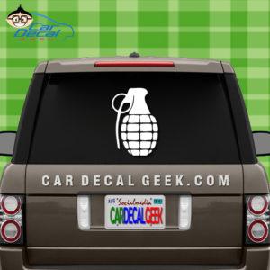 Grenade Car Sticker