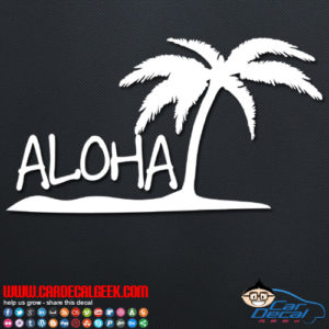 Aloha Island Decal Sticker