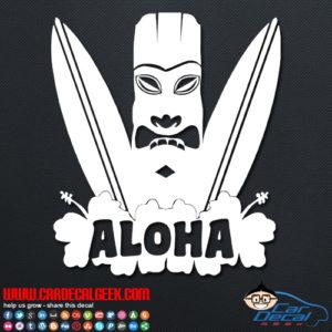 Hawaii Aloha Surfboard Decal
