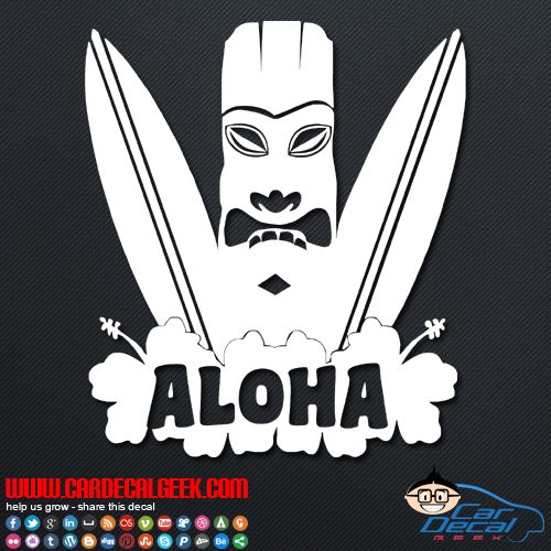 Hawaii Aloha Surfboard Decal