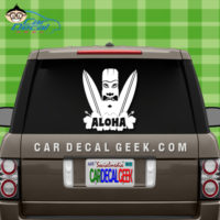 Hawaii Aloha Surfboard Car Window Decal