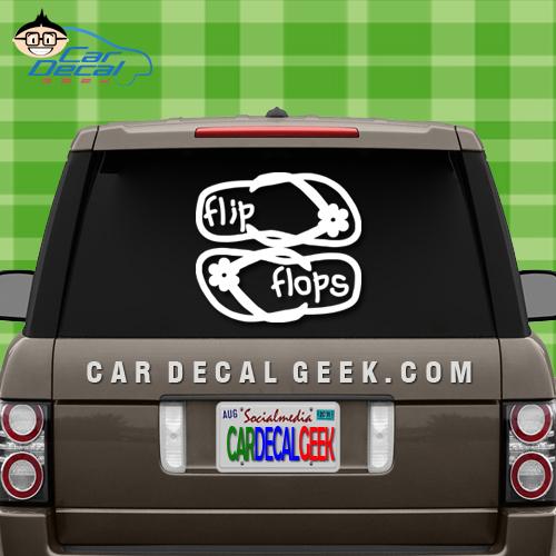 Hawaiian Flip Flops Car Sticker