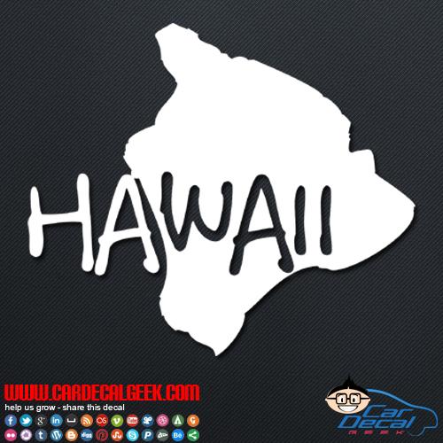 Hawaii Island Car Decal