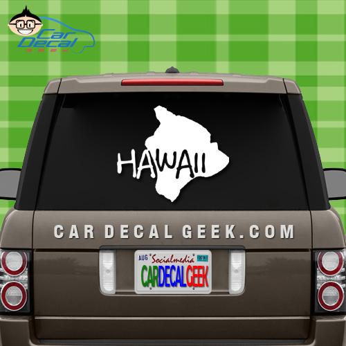 Hawaii Island Car Window Decal