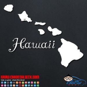 Hawaii Islands Car Sticker