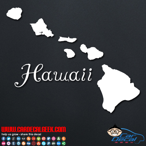 Hawaii Islands Car Window Vinyl Decal Sticker