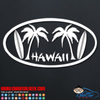 Hawaii Palm Trees Car Decal
