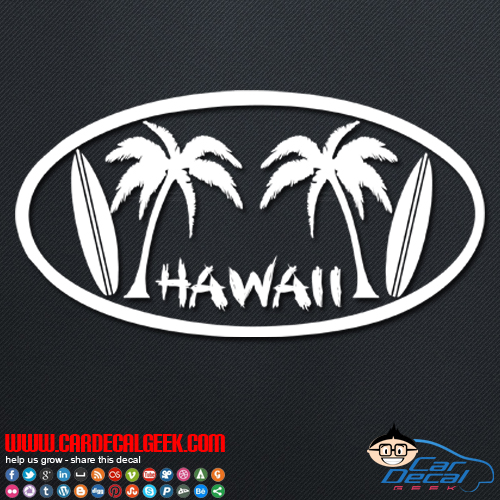Hawaii Car Decal Stickers