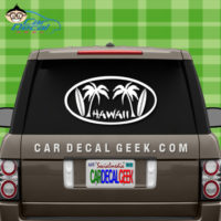Hawaii Surfboards Car Decal