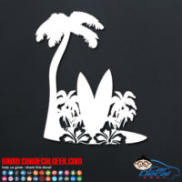 Hawaiian Surfboards Car Decal