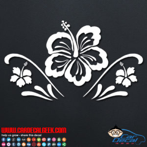 Hawaiian Hibiscus Flowers Car Decal