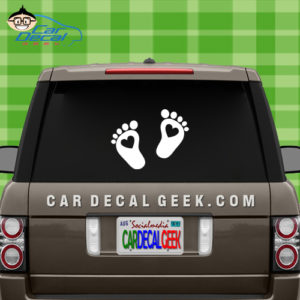 Heart Feet Car Window Decal Sticker
