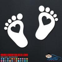 Heart Feet Decal