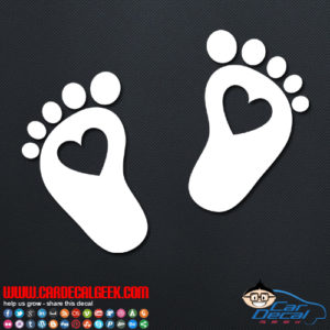 Heart Feet Decal