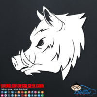 Hunting Boar Head Car Decal