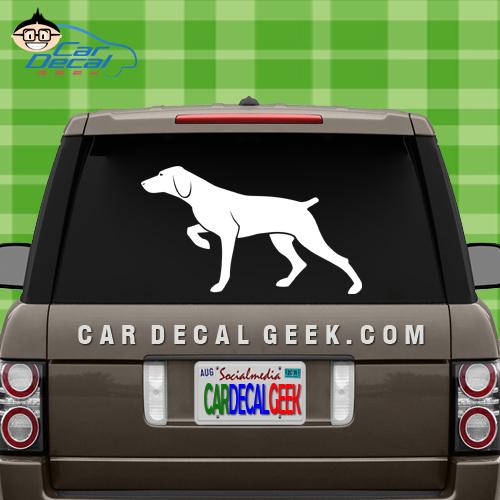 Pointer Dog Car Decal