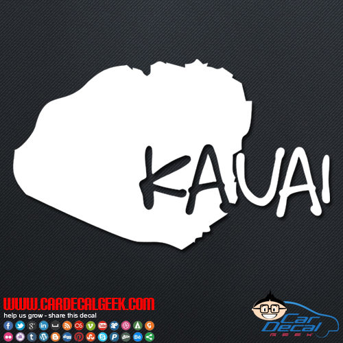 Kauai Hawaii Island Car Decal