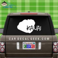 Kauai Hawaii Island Car Sticker