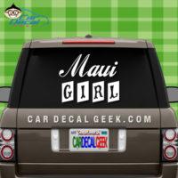 Maui Girl Car Decal
