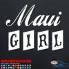 Maui Girl Car Sticker