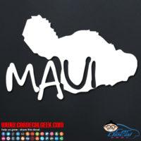 Maui Hawaii Island Car Decal