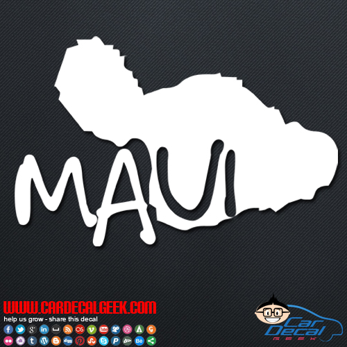 Maui Hawaii Island Car Decal