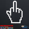 Middle Finger Mouse Cursor Car Sticker