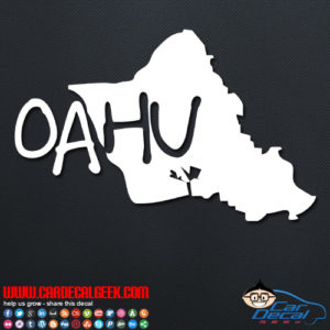 Oahu Hawaii Island Car Sticker