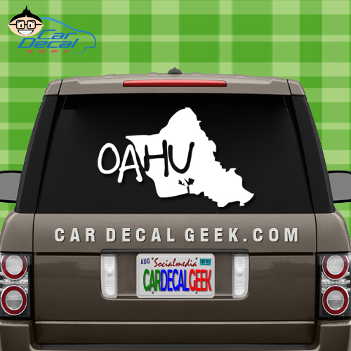 Oahu hawaii island car sticker oahu hawaii island car decal