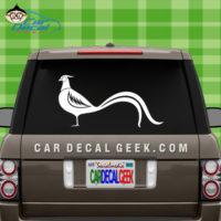 Pheasant Car Window Decal