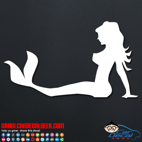 Pretty Mermaid Car Sticker