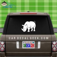Rhinoceros Car Sticker
