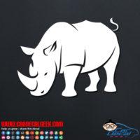 Rhinoceros Car Decal